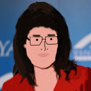 Sarah Palin especially poorly drawn by me