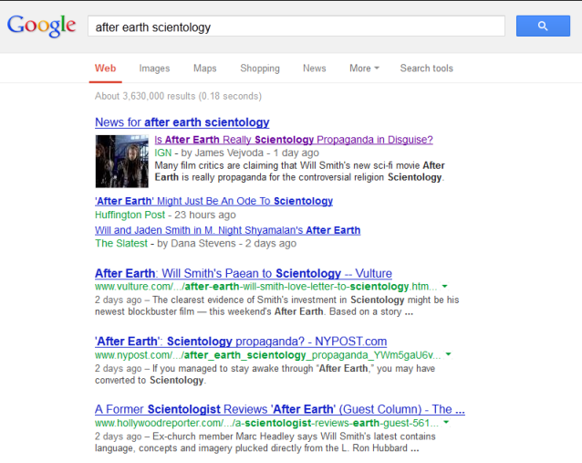 scientology search