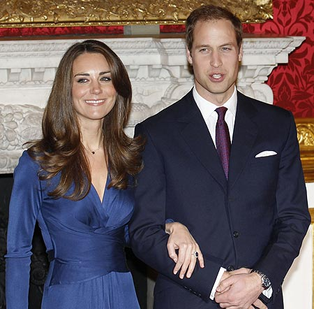 Prince William: Seen here with his wife, trapped in a marriage of convenience